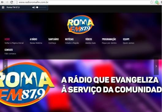 Site Roma FM