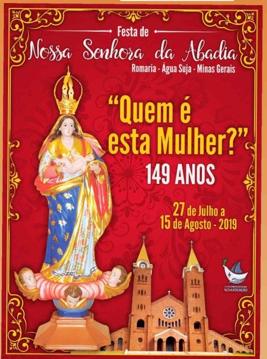 Cartaz Festa de Nossa Senhora da Abadia